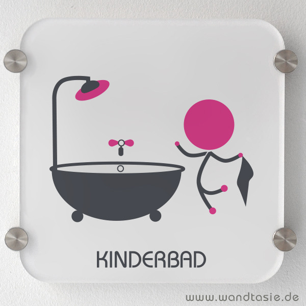 wandtattoos schilder piktogramme von wandtasie bad f r kinder schild. Black Bedroom Furniture Sets. Home Design Ideas