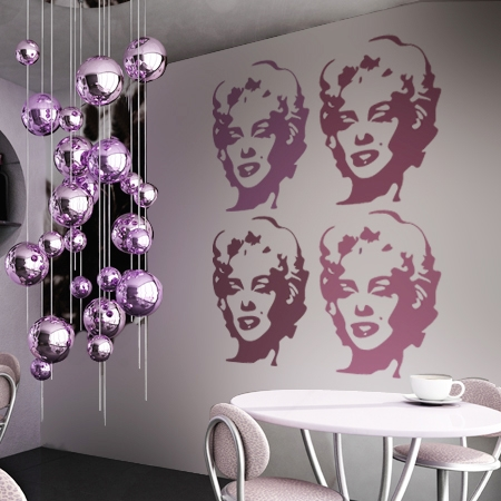 wandtattoos schilder piktogramme von wandtasie wandtattoo marilyn. Black Bedroom Furniture Sets. Home Design Ideas