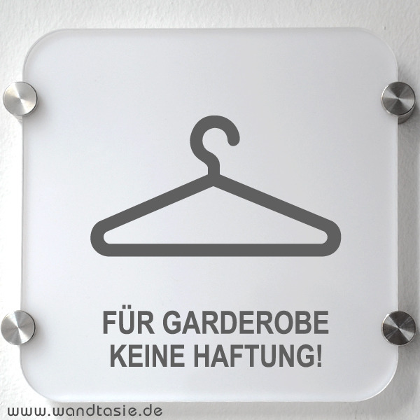 wandtattoos schilder piktogramme von wandtasie schild garderobe. Black Bedroom Furniture Sets. Home Design Ideas
