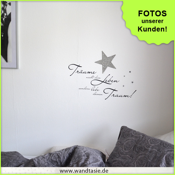 wandtattoos schilder piktogramme von wandtasie tr ume nicht d leben. Black Bedroom Furniture Sets. Home Design Ideas