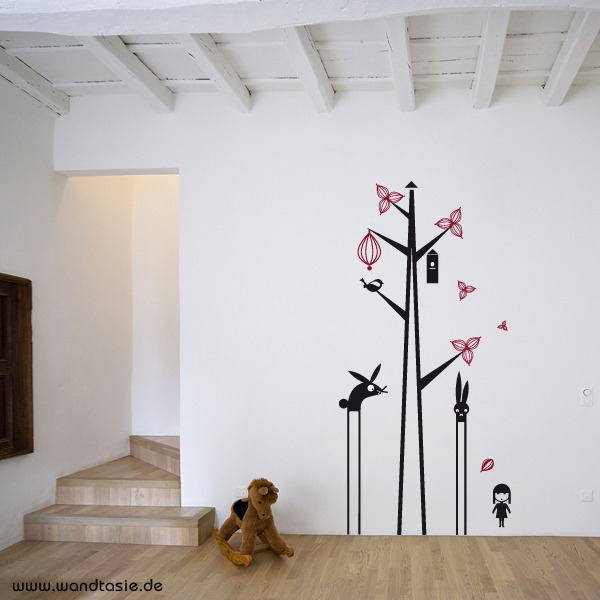wandtattoos schilder piktogramme von wandtasie baum tiere. Black Bedroom Furniture Sets. Home Design Ideas