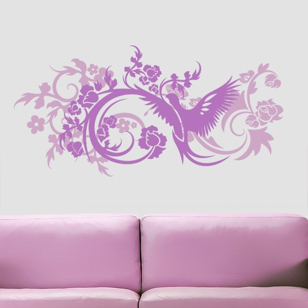 wandtattoo blumen pink verschiedene ideen f r die raumgestaltung inspiration. Black Bedroom Furniture Sets. Home Design Ideas
