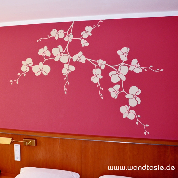 wandtattoos schilder piktogramme von wandtasie wandtattoo orchidee. Black Bedroom Furniture Sets. Home Design Ideas